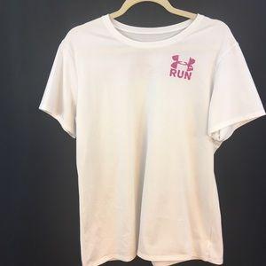 Under Armour Heat Gear T-Shirt Women's Sz XL White